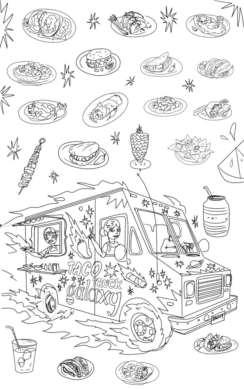 Los Angeles Times Food illustrations, Charles Glaubitz, May 23, 2019
