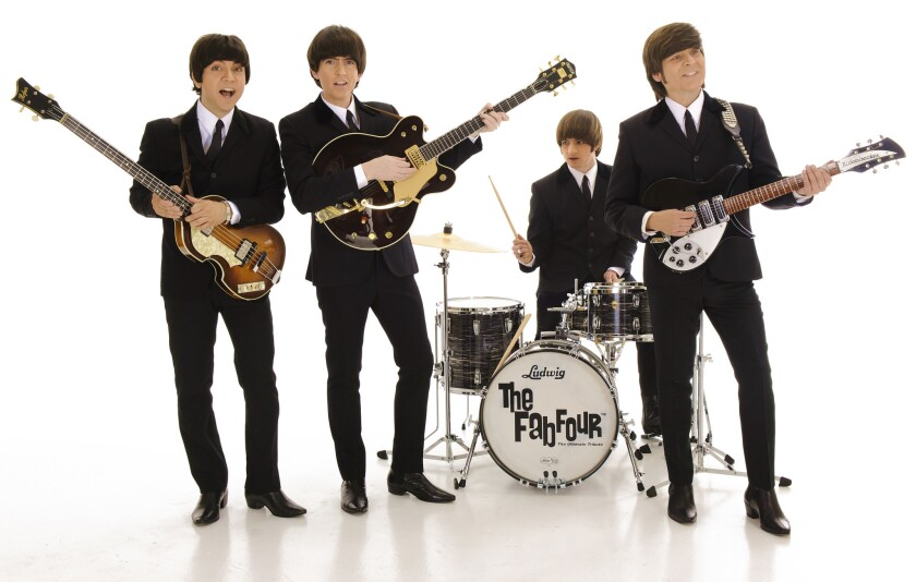 The Fab Four's Sept. 30 concert at The Inn at Rancho Santa Fe will feature classic hits by The Beatles.