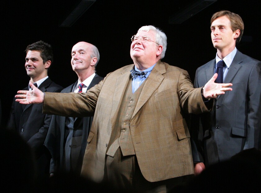 """The History Boys"" with Dominic Cooper, left, Clive Merrison, Richard Griffiths and Stephen Campbell Moore."