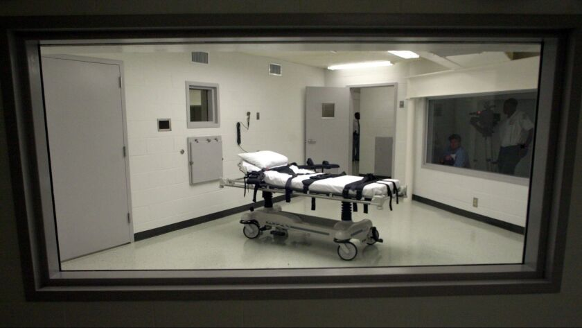 ** FILE ** Alabama's lethal injection chamber at Holman Correctional Facility in Atmore, Ala., is