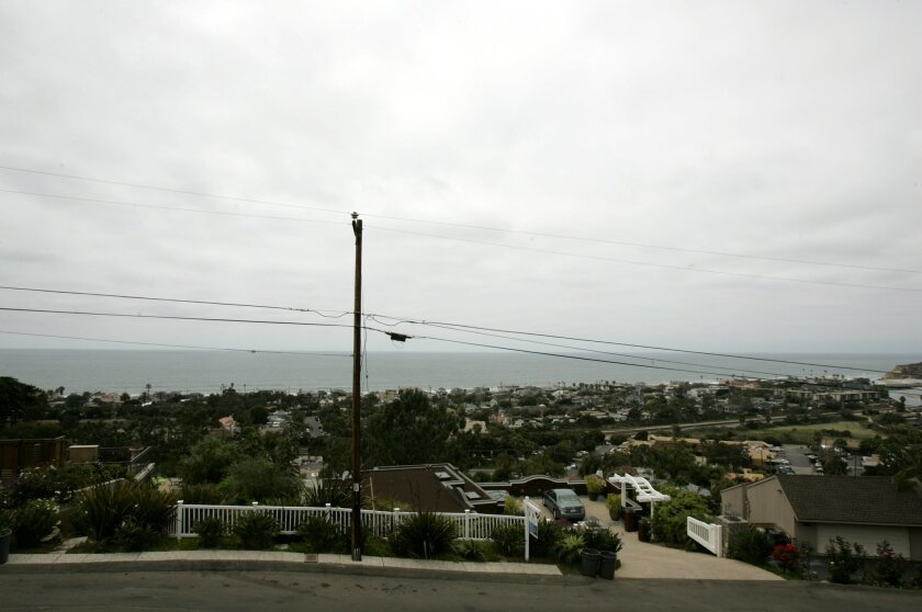 A plot of land owned by Del Mar on a cul-de-sac of Balboa Avenue is being put up for sale. The city expects to get over $3.25 million for the land. David Brooks / U-T