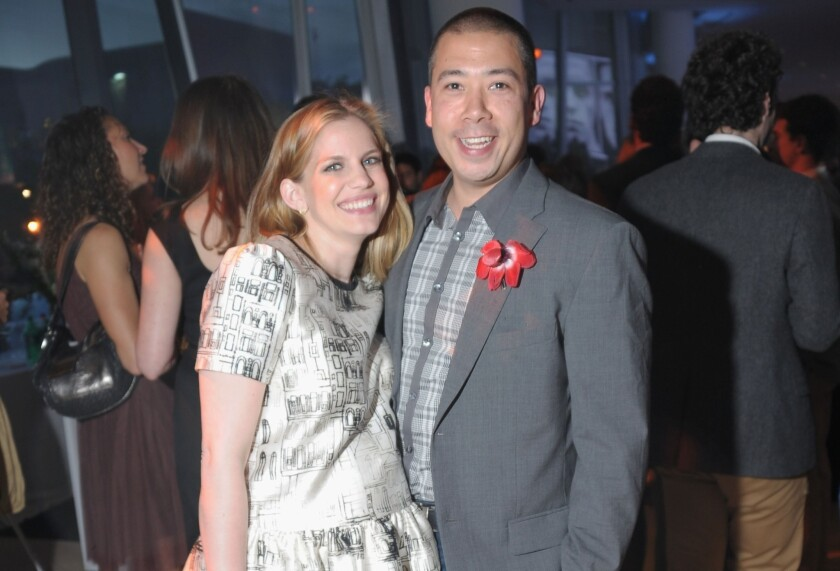 Anna Chlumsky and husband Shaun So welcomed their daughter, Penelope Joan So, on July 11. Above, the couple attend an event in New York in May.
