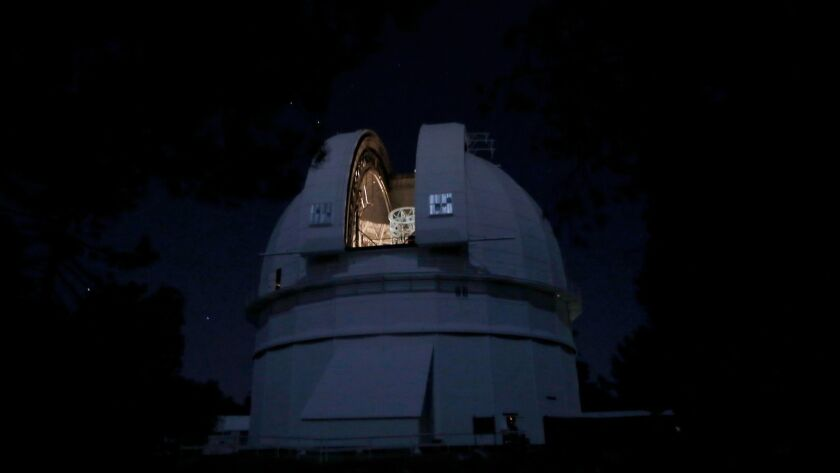 ANGELES NATIONAL FOREST, CA October 28, 2017: This dome at the Mount Wilson Observatory which hous