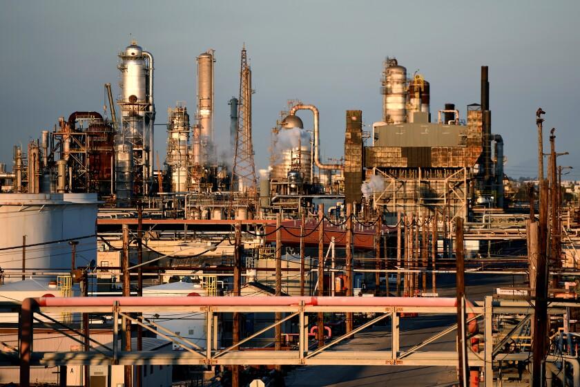 An oil refinery in Torrance, Calif.