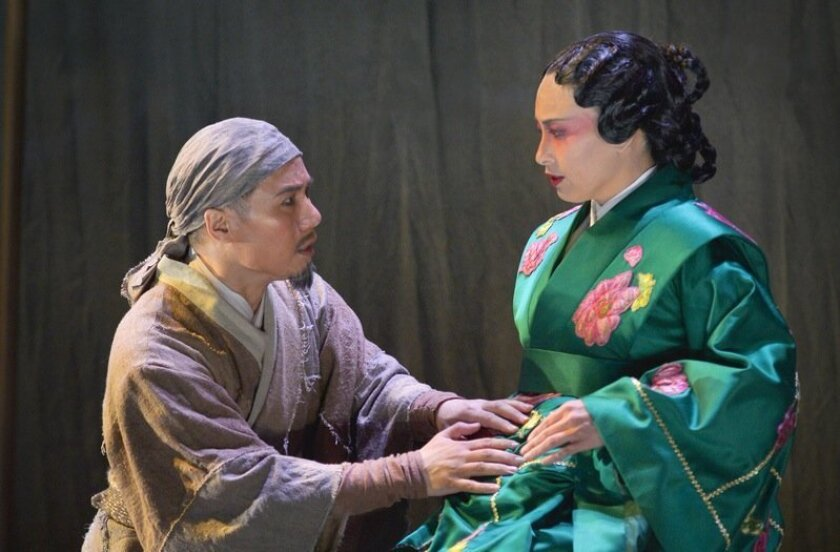 """BD Wong (left) and Marie-France Arcilla in La Jolla Playhouse's """"The Orphan of Zhao."""""""