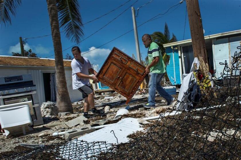 La población de los Cayos de Florida, un rosario de islas en el extremo sur del estado, se redujo en por lo menos 3.000 personas tras el paso del huracán Irma en septiembre de 2017, según el sondeo anual de la Universidad de Florida. EFE/Archivo