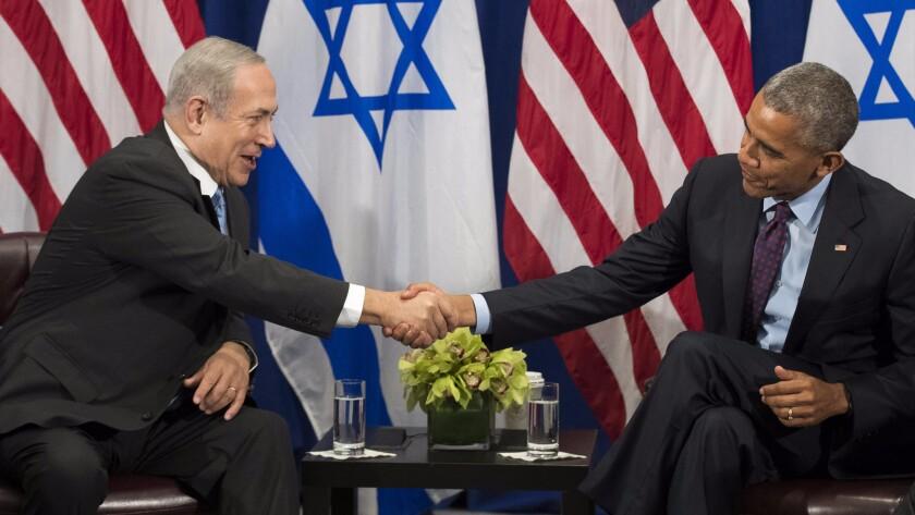 Benjamin Netanyahu and President Obama