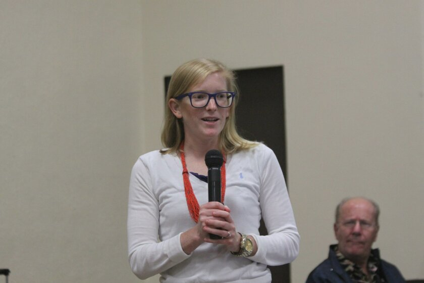 Kayla Race talks to the La Jolla Town Council about the City of San Diego's Climate Action Plan.
