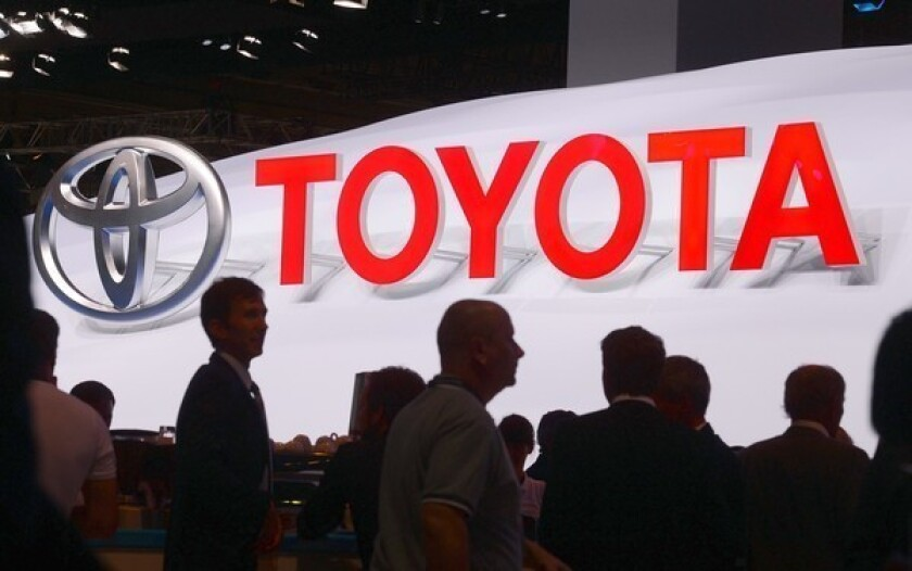 Toyota at the Frankfurt Motor Show in Germany last month.