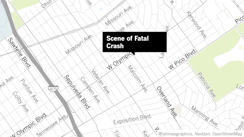 Map showing intersection where a high-speed crash claimed the life of 32-year-old Monique Munoz.