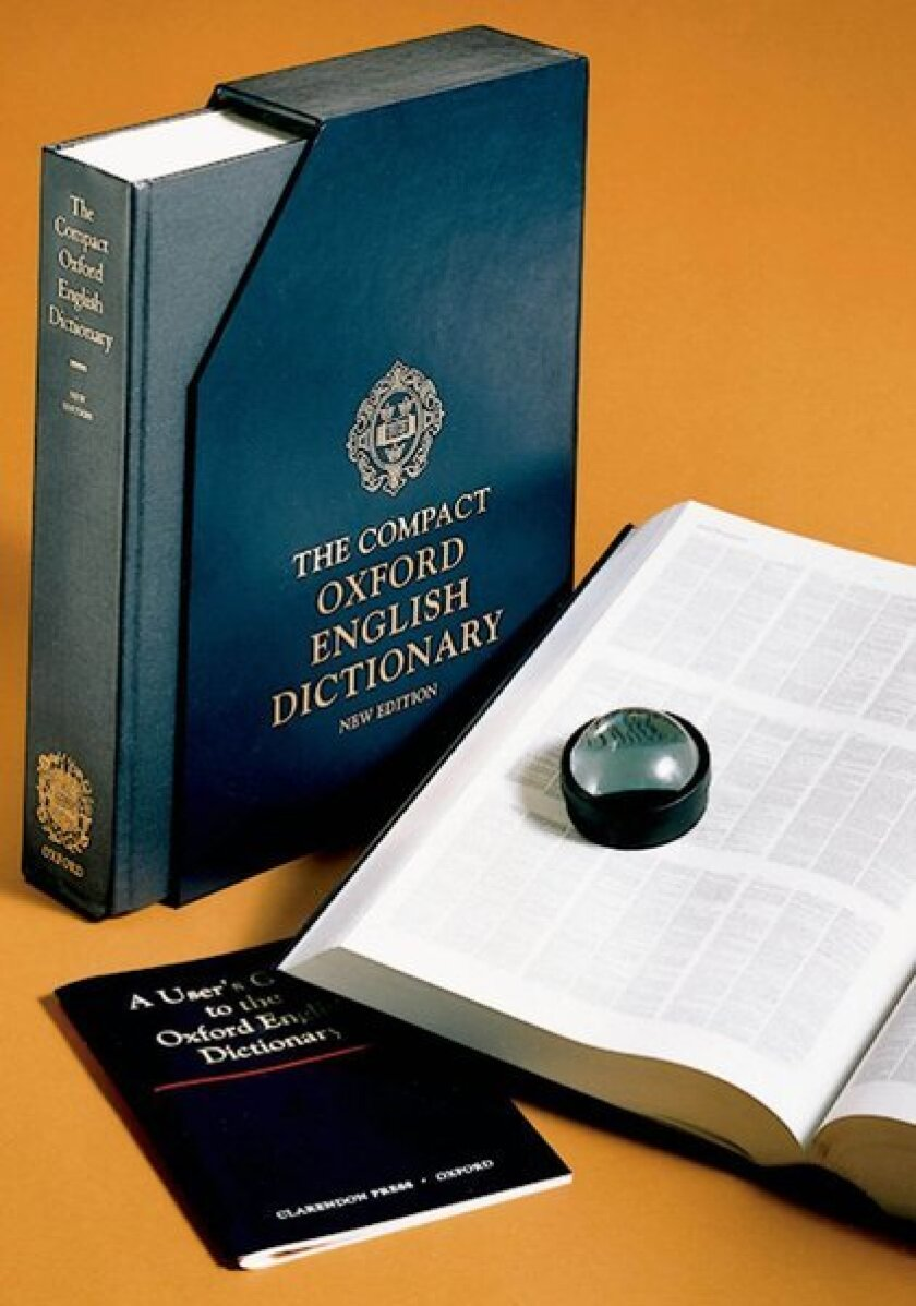 Cover of the Compact Oxford English Dictionary.