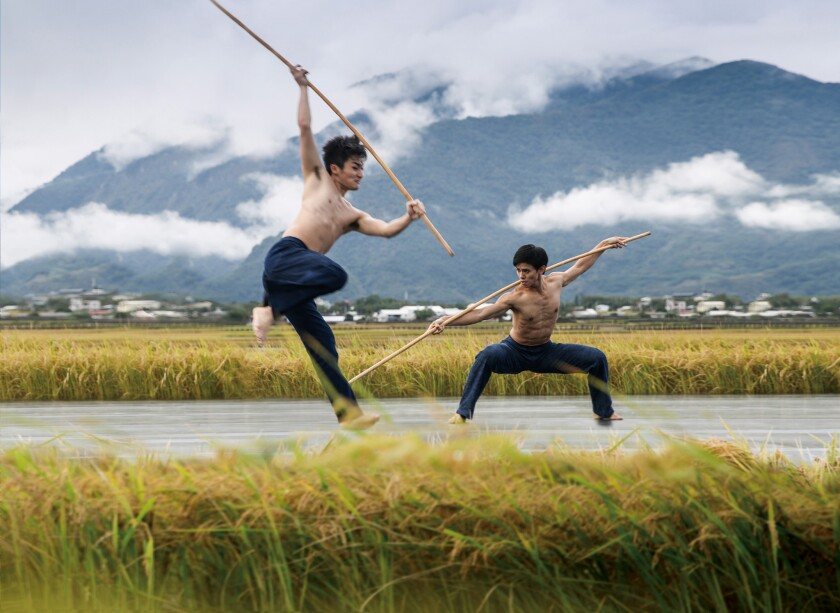 """The Cloud Gate Dance Theatre of Taiwan performs """"Rice""""."""