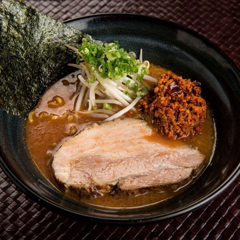A bowl of ramen from Ramen Ryoma in Hillcrest