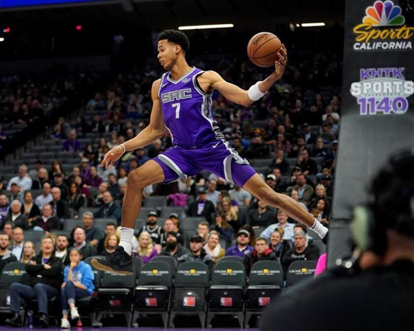 En la imagen, el jugador Skal Labissiere de los Kings de Sacramento. EFE/Archivo