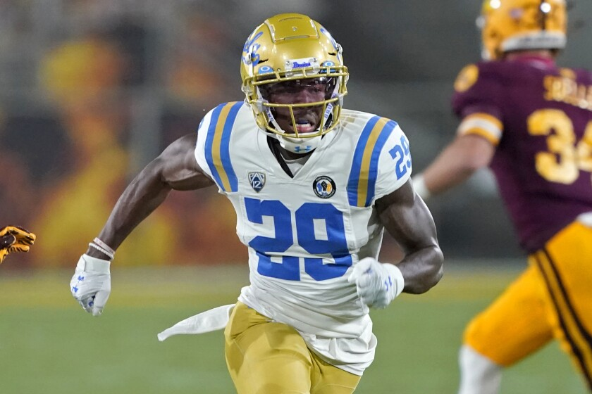 UCLA wide receiver Delon Hurt (29) during  a game against Arizona State.