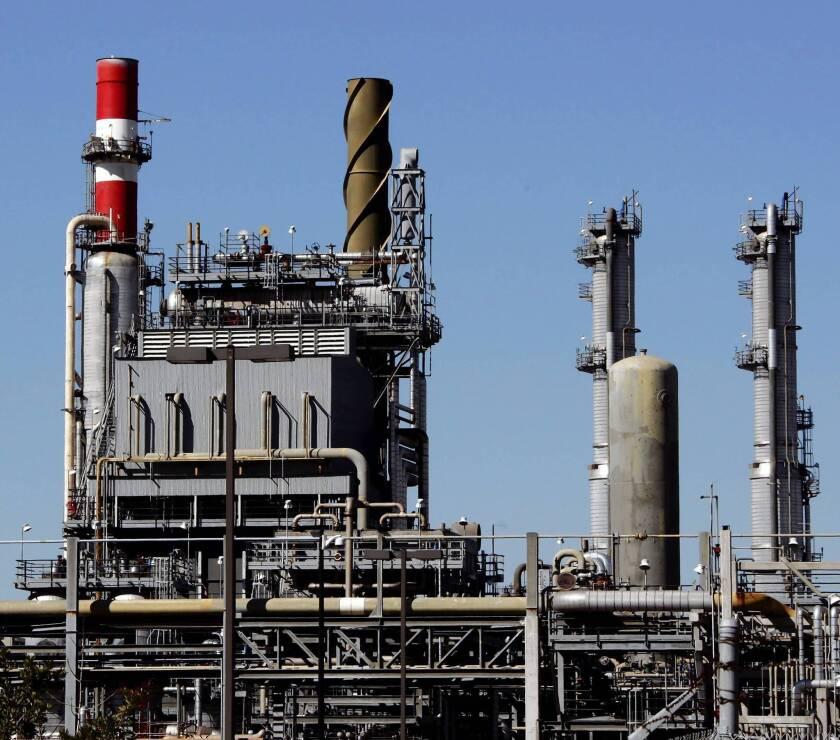 Tesoro agreed to take steps to reduce greenhouse gas and other pollution emissions by installing new equipment at the refineries in Carson, above, and Wilmington.
