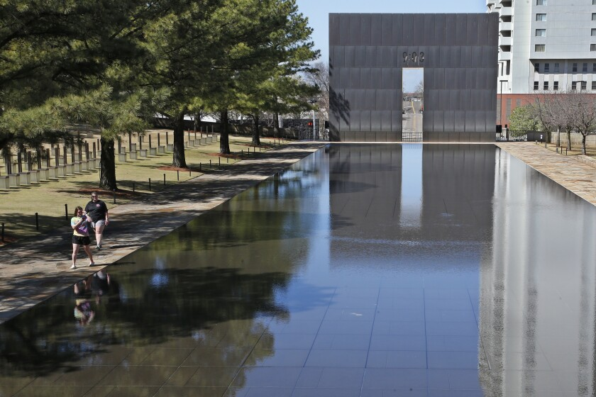 The coronavirus outbreak has scrapped plans for a live ceremony to mark the 25th anniversary of the Oklahoma City bombing.