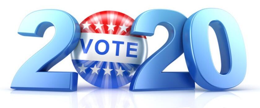 Vote 2020 stock logo