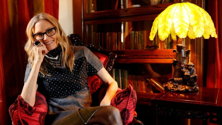 """Aimee Mann photographed at her home in Los Feliz. Her new album, """"Mental Illness,"""" comes out March 31."""