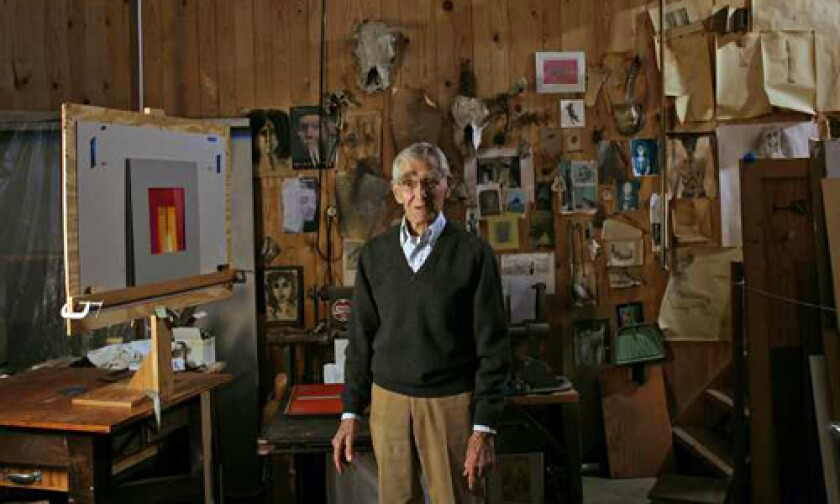 OFTEN OVERLOOKED: Hueter, in his studio in Claremont, where he has lived for more than 40 years.