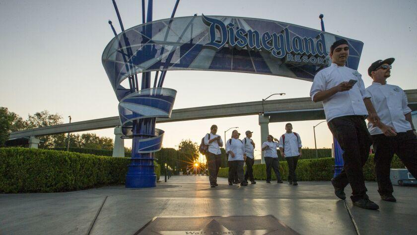 ANAHEIM, CALIF. -- WEDNESDAY, SEPT. 6, 2017: Walt Disney's star is prevalent on the Anaheim/Orange