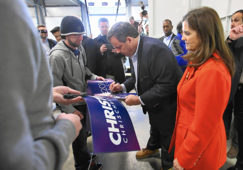Chris Christie campaigns in New Hampshire