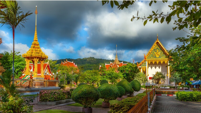 Wat Chalong in Phuket, Thailand.