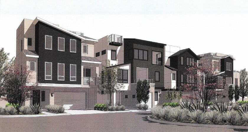 The Costa Mesa City Council approved a new 28-unit residential development at 1239 Victoria St. on Tuesday. The homes will replace a 1960s-era office building that is mostly vacant.