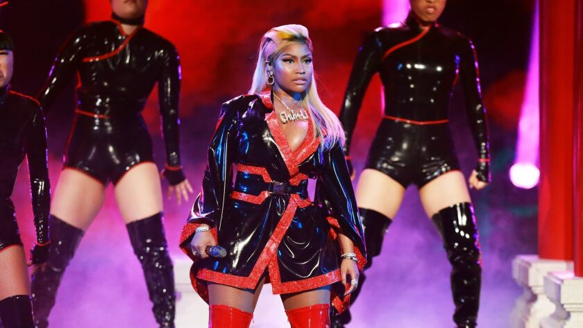 Nicki Minaj performs during June's BET Awards.