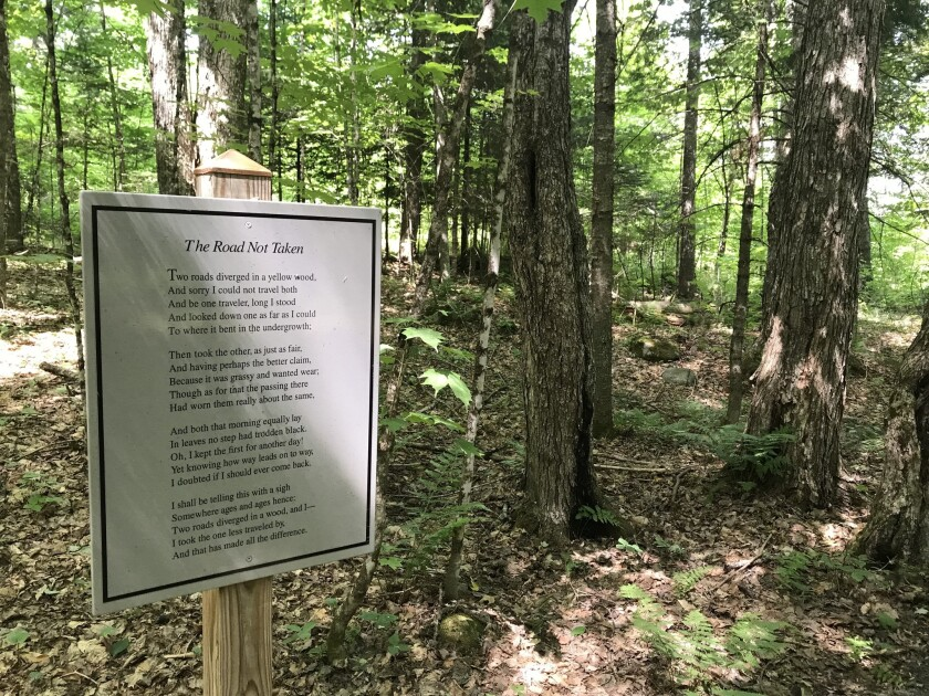 On the Poetry Trail at The Frost Place in Franconia, NH