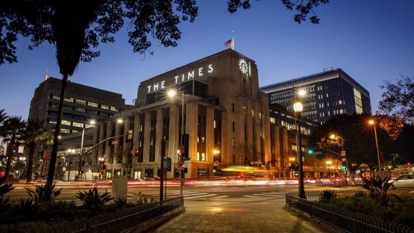 The Los Angeles Times will relocate from its longtime downtown headquarters to an El Segundo office building in June.