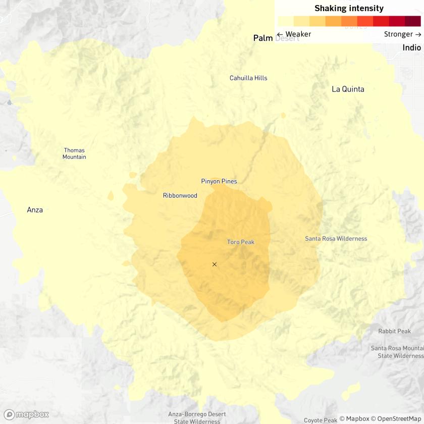 3.5 quake reported near Palm Springs