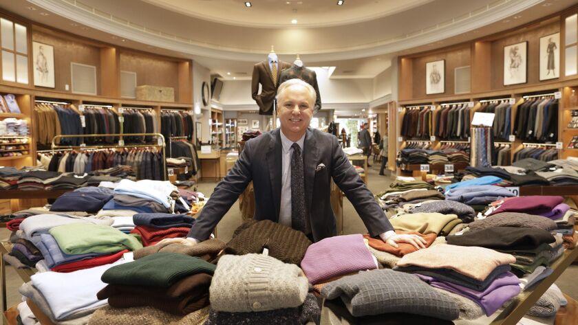 BEVERLY HILLS, CA -- DECEMBER 04, 2018: John Carroll runs Carroll & Co. -- the 70-year-old clothing