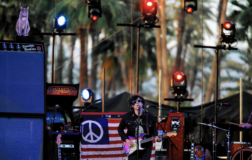 Ryan Adams performs at the Coachella Valley Music and Arts Festival on April 12, 2015.