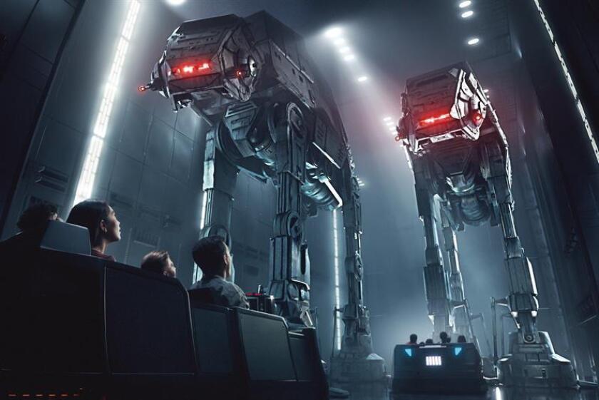 """Imagen cedida este jueves por Disney Parks de una recreación artística del que será el corredor Star Destroyer en el nuevo parque temático de Disney """"Galaxy's Edge"""". EFE"""