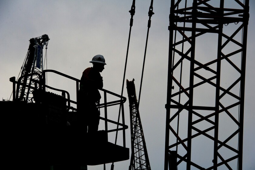 A worker at a construction site. Cal/OSHA is responsible for inspecting and investigating workplaces across the state.