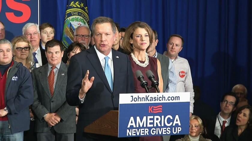 Gov. John Kasich of Ohio after the New Hampshire primary.