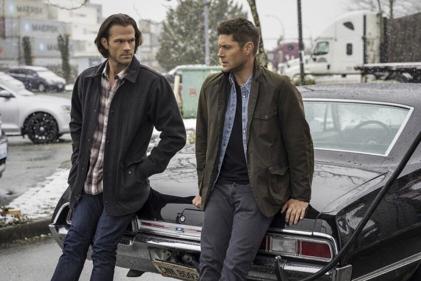 "Jared Padalecki, left, and Jensen Ackles in an upcoming episode of ""Supernatural."""