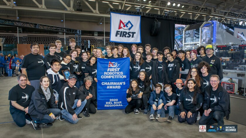 Team Spyder received the Chairman's Award, the highest honor given during the FIRST Robotics Competition season.