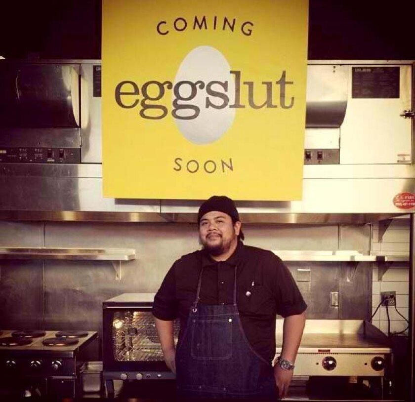 Alvin Cailan is chef and co-owner of Egg Slut, newly opened at Grand Central Market.