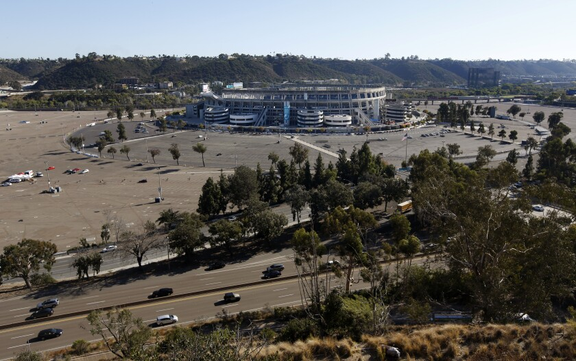SDCCU Stadium in Mission Valley as photographed on Oct. 7, 2019.