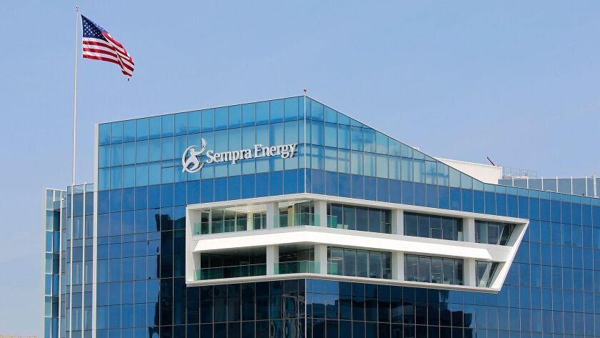 Sempra Energy's corporate headquarters in downtown San Diego. The Fortune 500 company posted earnings of $354 million in the second quarter of 2019.