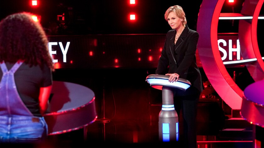 """Jane Lynch in """"The Weakest Link"""" on NBC."""