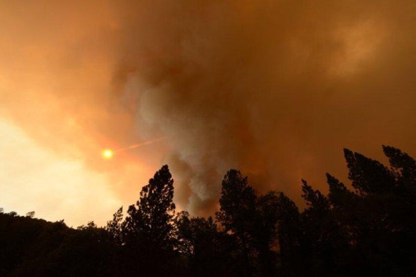 Carstens fire near Yosemite