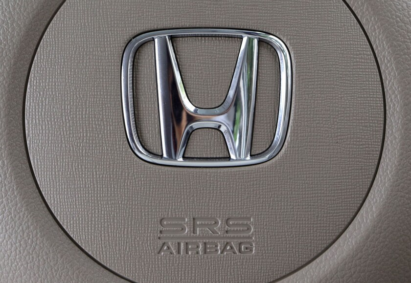 Honda confirmed there have been six deaths in his cars linked to faulty Takata air bag inflator explosions, including one in Los Angeles.