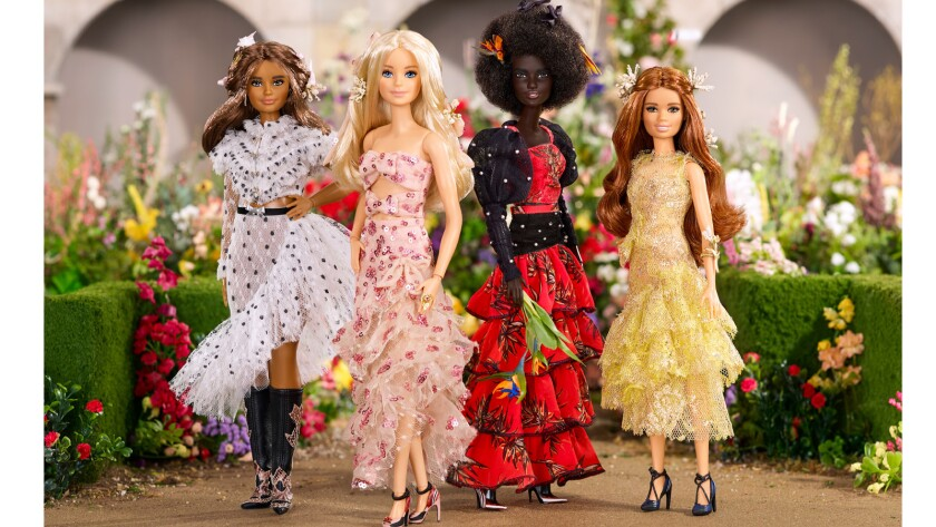 Barbie Adds A Tiny And We Mean Tiny Selection Of Rodarte Dresses To Her Designer Wardrobe Los Angeles Times
