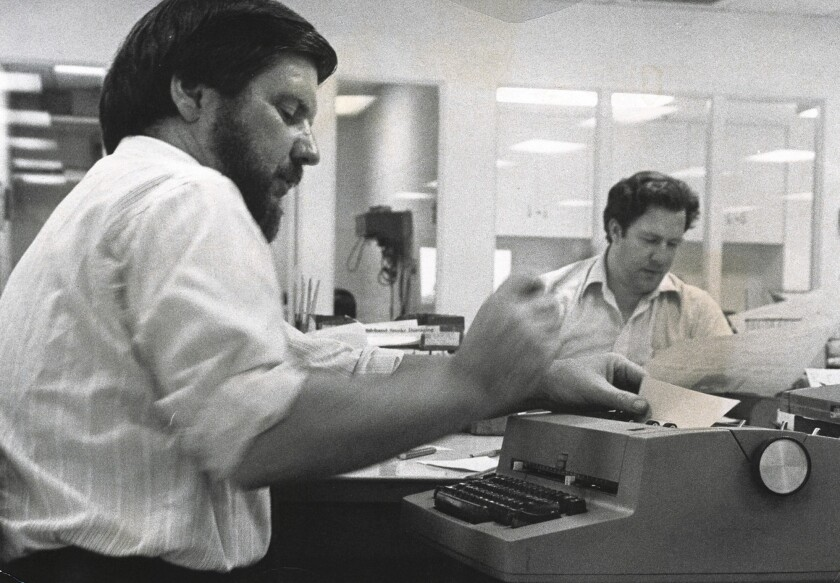 Daily Pilot theater critic Tom Titus, pictured here during the 1970s, has a long history with the paper. He started as a reporter in 1963 and moved to the copy desk two years later. He remained as a staff member until 1991, and since then has been a freelance writer for the paper covering local theater.
