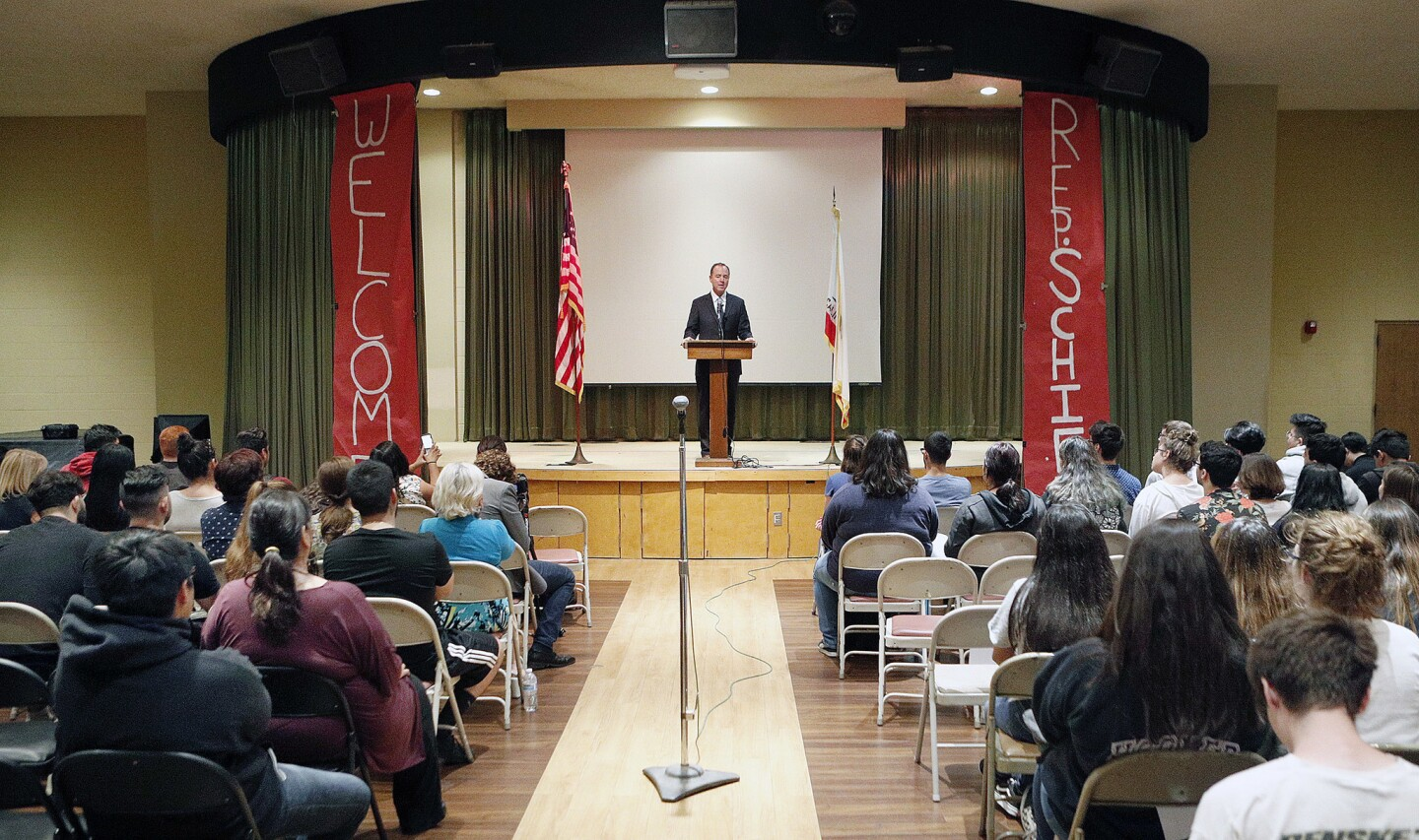 Photo Gallery: U.S. Congressman Adam Schiff answers several questions from Daily High School students