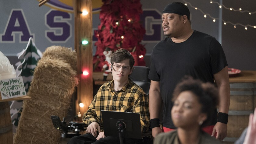 "Micah Fowler, left, and Cedric Yarbrough in ""Speechless"" on ABC."