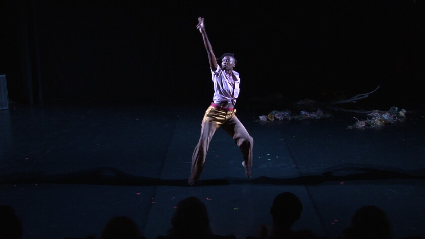 """L.A. dancer taisha paggett performs in Meg Wolfe's new choreography, """"New Faithful Disco"""" at REDCAT this weekend."""